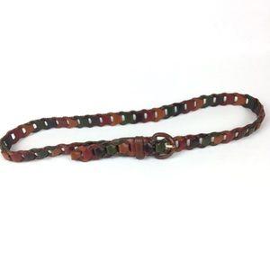 Perry Ellis Vintage 90's leather color Skinny Belt